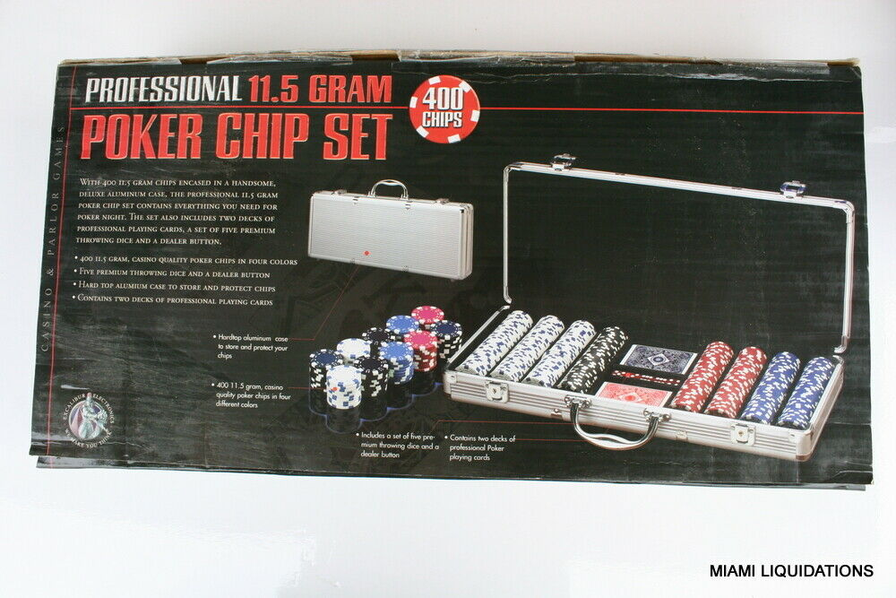 Excalibur Electronics 2064A2 400 Professional 115 Gram Poker Chip Set Case