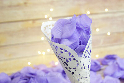 Lavender Silk Rose Petals Confetti for Weddings in - Silk Rose Petals Bulk