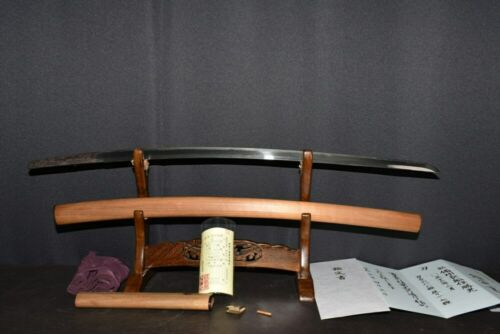 "(AR-80) Old Blade ""OSAFUNE KATUMITU sign"" MUROMACHI with Judgment paper"