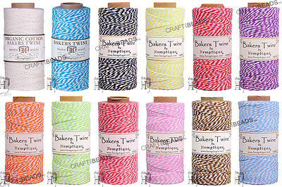 1MM Bakers Twine 100% Cotton 2 Ply Hemptique Macrame Craft String - 410ft - Bakers Twine