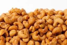 Honey Roasted Cashew Nuts. £10 for 3KG