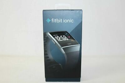 Fitbit Ionic Smartwatch with Small & Large Band Charcoal Smoke Gray FB503GYBK