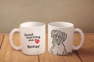 "Boxer - ceramic cup, mug ""Good morning and love"", AU - Zary, Polska - Boxer - ceramic cup, mug ""Good morning and love"", AU - Zary, Polska"