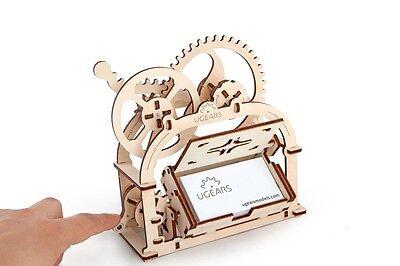 UGEARS 3D-Funktionsmodell Mechanische Schatulle, Etui, Holz-Bausatz mit Funktion