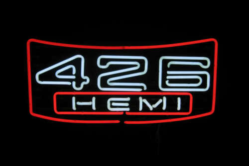 "New 426 hemi Neon Light Sign 24""x20"" Lamp Poster Real Glass Beer Bar"