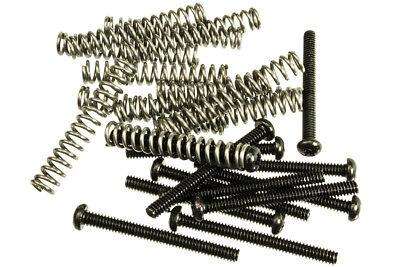 12 Pack Spring - 12 Pack of Humbucker Pickup Mounting Screws With Springs Black Finish