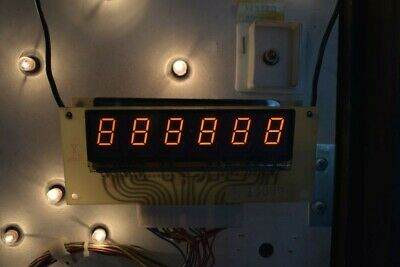 Williams pinball Display 6 Digit Slave. Tested and Working.