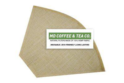 Hemp Coffee Filter 6, Reusable Coffee Filter, Saves Money, Taste Better