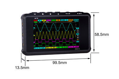 Arm Ds213 Nano V2 Quad Pocket Digital Oscilloscope With Aluminum Black Case A