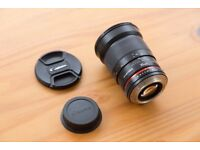 Samyang 35mm F/1.4 MF AS UMC Lens For Canon With Lens Caps
