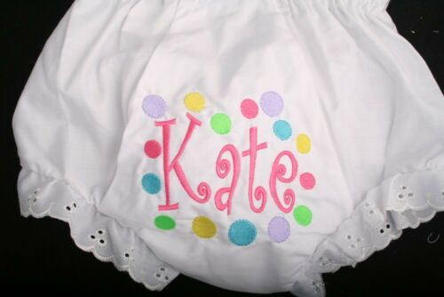 Personalized Monogrammed Diaper Cover Bloomers newborn through 4T- Spots 2