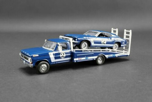1969 FORD F-350 #2 RAMP TRUCK W/MUSTANG 51268 1/64 scale DIECAST CAR