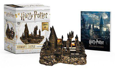 Hogwarts School Beleuchtet+Stickerbuch Miniatur Harry Potter Neu
