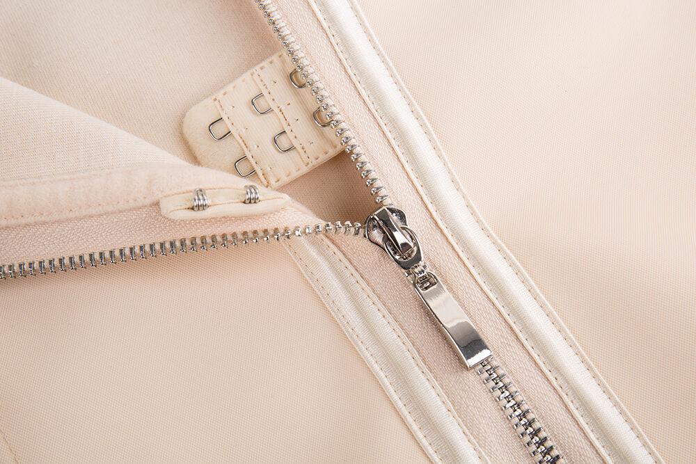 Corset Body Shaper Latex Rubber Waist Trainer Underbust Zipper Slimming Cincher