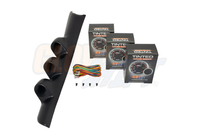 GlowShift Tinted Series Gauge Package + Triple Pod for 94-97 Dodge Ram Cummins