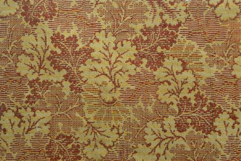 antique early fabric upholstery carpet narrow wool 36 x 66 rust gold 18th 19thc