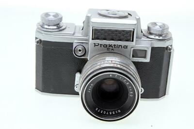 Praktina IIa 35mm Film Camera With Jena 50mm F2.8 Lens - $9.95