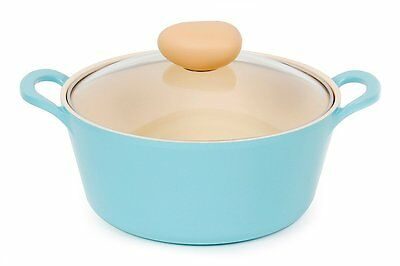 Neoflam Retro 3QT Ceramic Nonstick Stockpot w/ Glass Lid, Mint