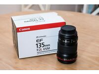 Canon EF 135mm f/2L USM (£600 ONO)