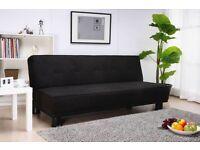 Suede sofa bed