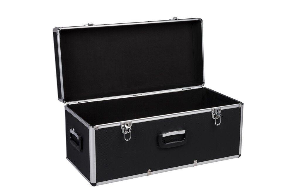 Aluminiumkoffer Transportkoffer Alu Koffer Box Lagerkiste Lagerbox 65 Lt Schwarz