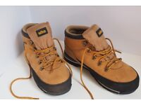 Protective, steel cap, waterproof, heavy duty safety boots.