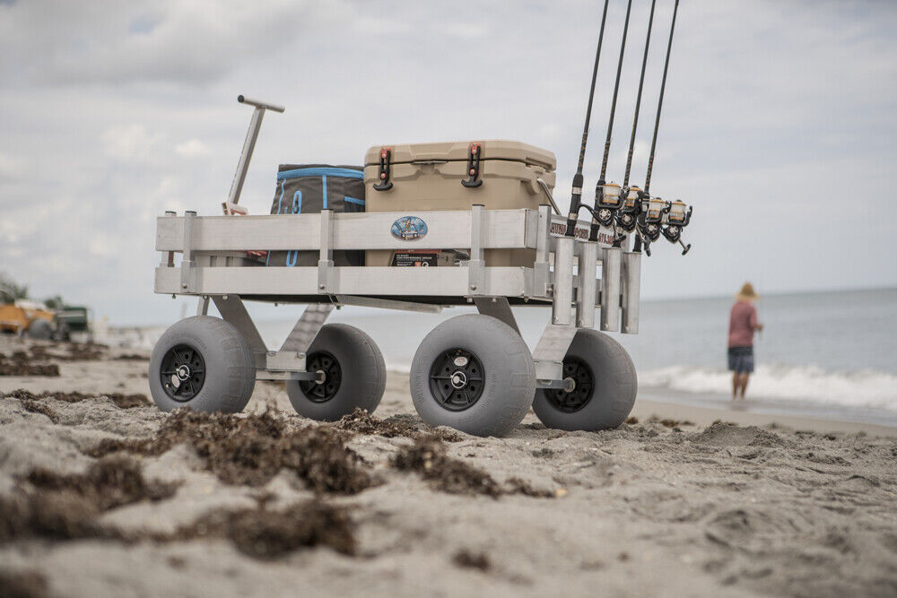 NEW: Big Kahuna Beach & Fishing Wagon-UV Deck-No Rust-Lightw