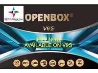 NO CHANNELS ON V8S?☆V 9 S HDTV SAT + IPTV OPENBOX RECEIVER BUILT IN WIFI APPS / MOVIES ☆ £125/12MTHS