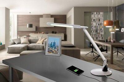 Lampada da scrivania bianca con comandi touchscreen e porta USB, MEDIACOM LAMP