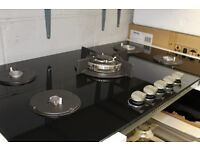 90cm Built in Ceramic Glass on Gas Hob with FFD **CHEAP** Full Set