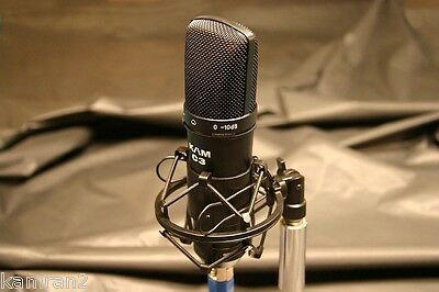 B-Stock KAM C3 Linear Studio Condenser  Mic & Shock Mount - U87 type sound for sale  Shipping to Canada