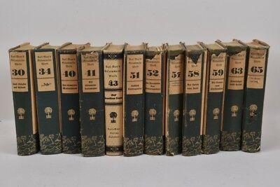 i20m48- 12 Bände / Buch Karl May Radebeul 1924-34 mit Schutzumschlag