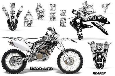 Dirt Bike Decal Graphics Kit Sticker Wrap For Honda CRF450X 2005-2016 REAPER WHT