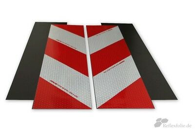 Set KFZ Warnmarkierung Magnetisch rot weiß 200kmh reflektierend Reflexfolie TÜV