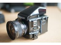 Mamiya 645 Pro Tl - Medium Format Camera - + 35mm lens + 210mm lens + 2 film backs and camera bag
