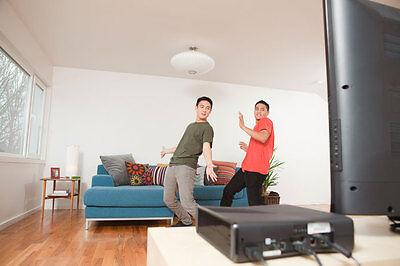 Sieht von außen lustig aus, verbrennt von innen deine Fettpolster: Motion Games mit und ohne Controller. (© Thinkstock)