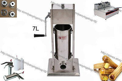 7l Manual Churro Churrera Maker Machine W 12l Electric Fryer 700ml Jam Filler