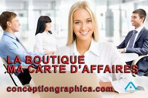 CARTE D'AFFAIRES EN LIGNE, LIVRAISON GRATUITE | LOGO, AFFICHE, ACCROCHE PORTE ET PLUS