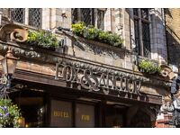 Full time bar and floor staff required for Farringdon pub, £7.20 - £7.50 per hour plus service