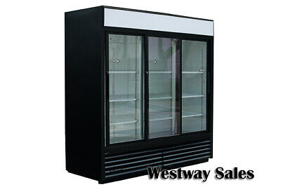 True Gdm-69 Sliding 3-door Refrigerator Merchandiser Cooler Free Shipping