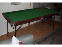 Living Room Pool Table with cues, balls, chalk - needs some TLC - good Christmas gift, only £50
