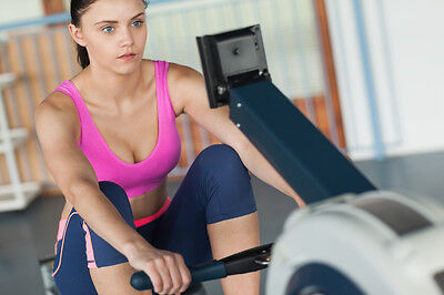 Tone your arms, back and thighs with a rowing machine