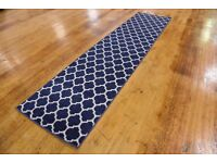 Hall Runner, Rug, Carpet, Blue & White, Discount