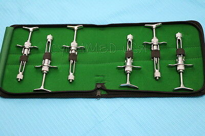 German Set Of 6 Dental Aspirating Syringe Dental Instruments 1.8cc A Quality
