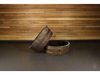 Reclaimed Oak Whiskey Barrel 1/4 Size