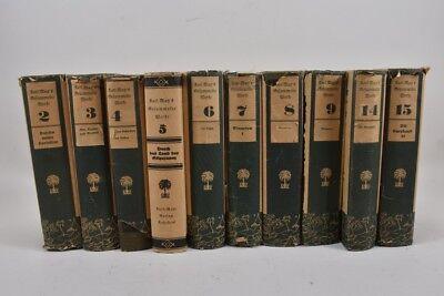 i20m46- 10 Bände / Buch Karl May Radebeul 1924-34 mit Schutzumschlag