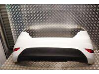 FORD FIESTA MK7 REAR BUMPER COMPLETE IN FROZEN WHITE (SEE PHOTOS) 2013-17 FL15