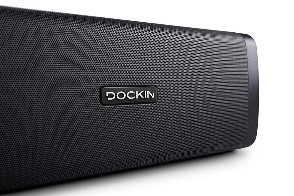 DOCKIN D FINE Bluetooth Lautsprecher 50W 2-Wege Stereo Powerbank Akku 10h IP55