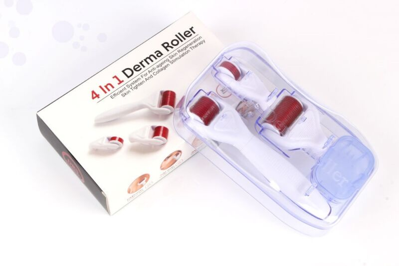 4 in 1 Derma Roller Set 0.5mm, 1.0mm, 1.5mm Titanium Micro Needles w/Travel Case 1