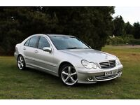 2006 MERCEDES C220 CDI SPORT 77K MILES! AUTOMATIC! PRISTINE EXAMPLE! FULL LEATHER HPI CLEAR C270 AMG